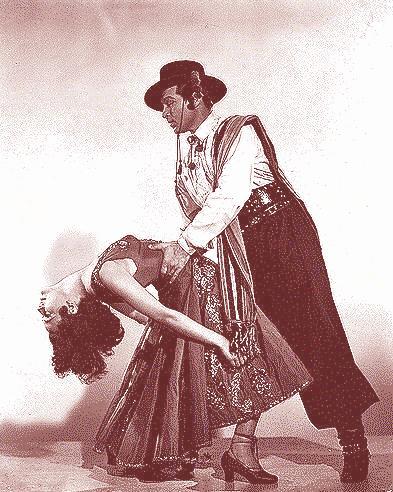 Anthony Dexter and Patricia Medina in Valentino (1951).